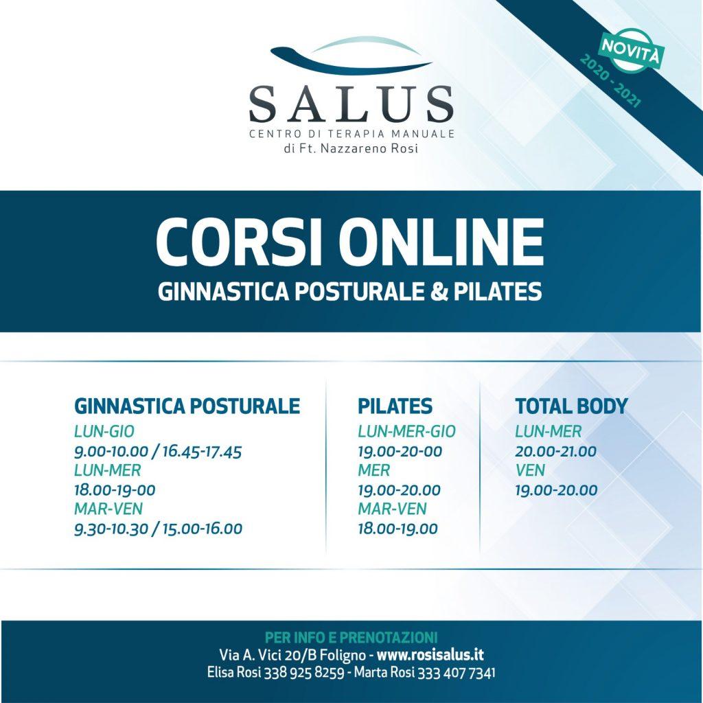 Corsi online 2021 - Centro Terapia Manuale Salus